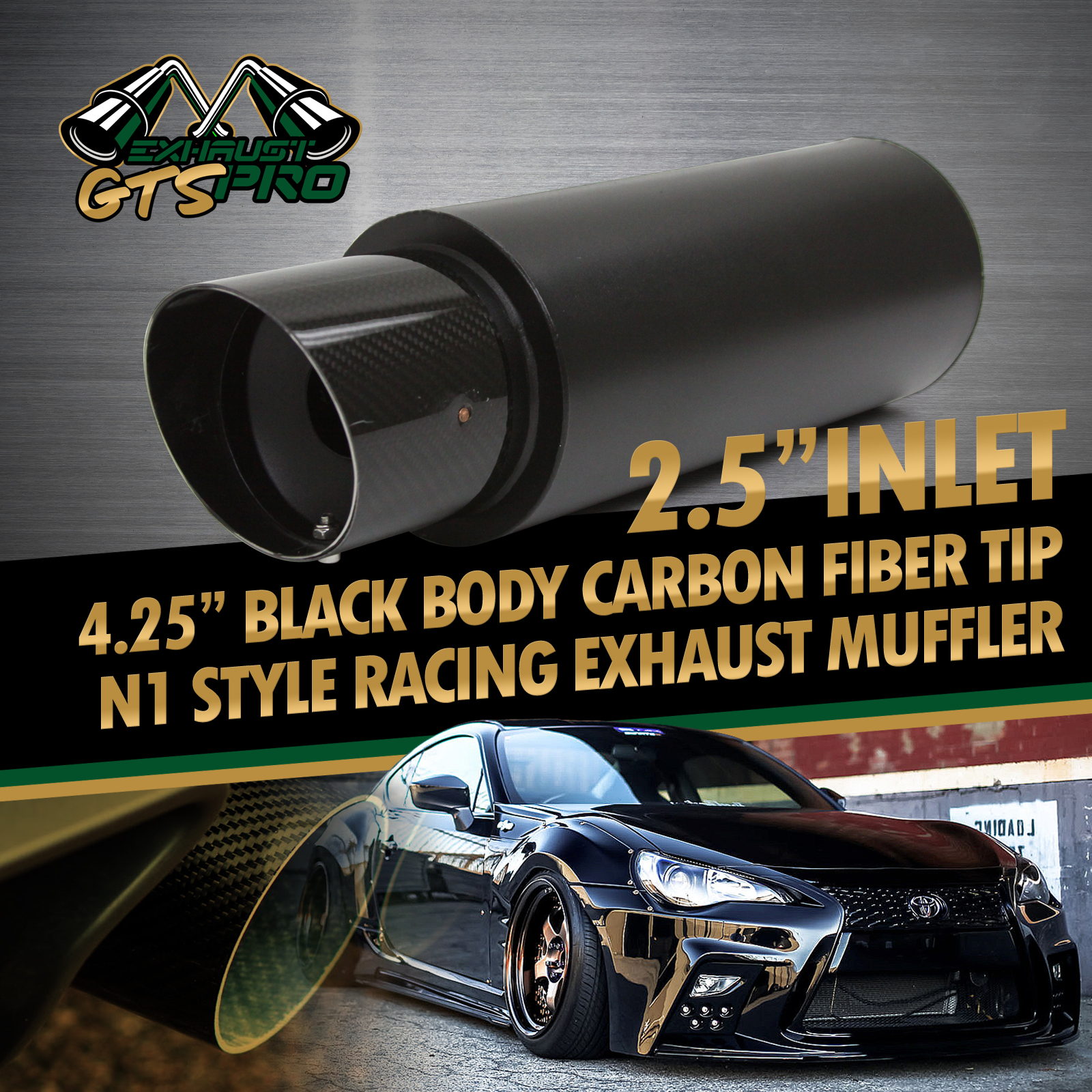 For Euro Car 1x N1 Style Deep Tone Sport Exhaust Muffler 4 25